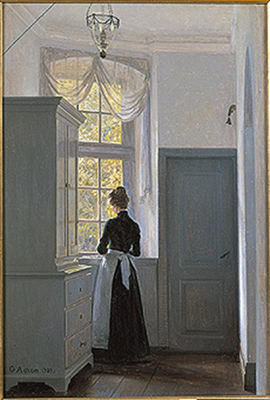 Georg Achen, Drømmevinduet (The dream window), 1903 - Public Domain via Wikipedia Commons
