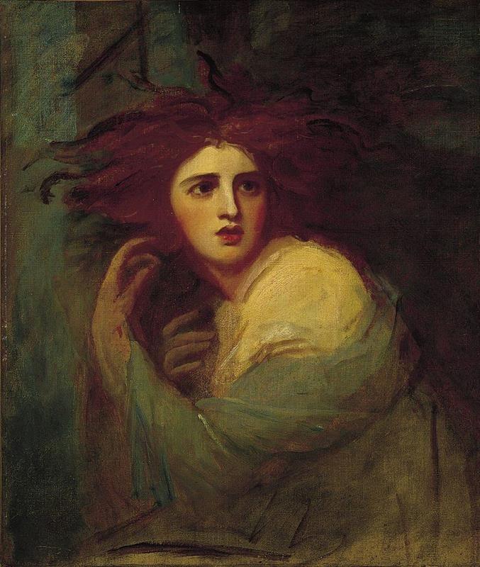 George Romney, Lady Hamilton as Medea, 1786, The Norton Simon Museum - Public Domain via Wikimedia Commons.
