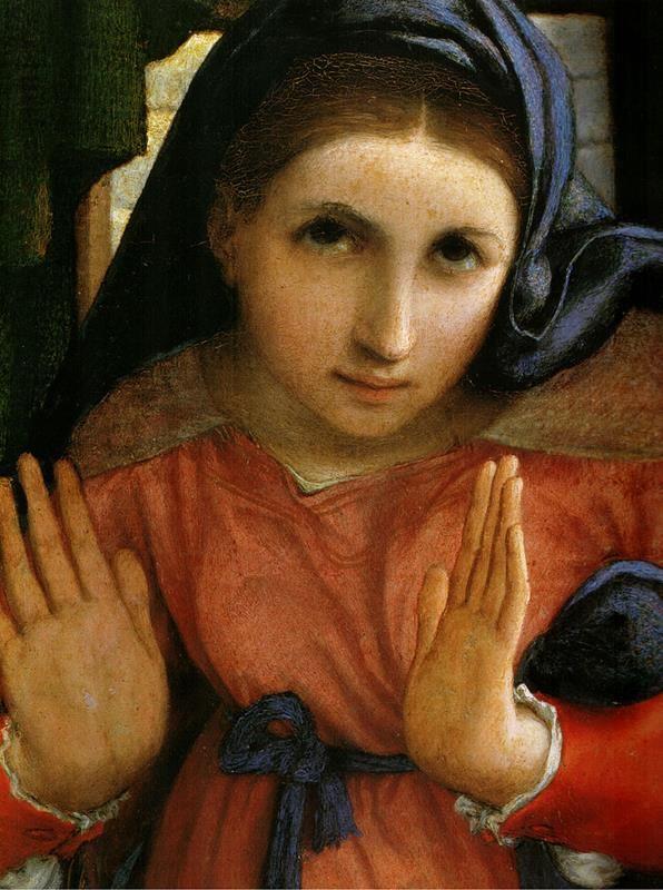 Lorenzo Lotto, Annunciazione, Dettaglio - Public Domain via Wikipedia Commons