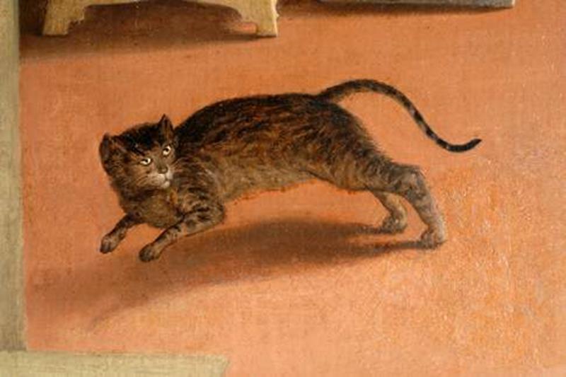 Lorenzo Lotto, Annunciazione, Dettaglio.