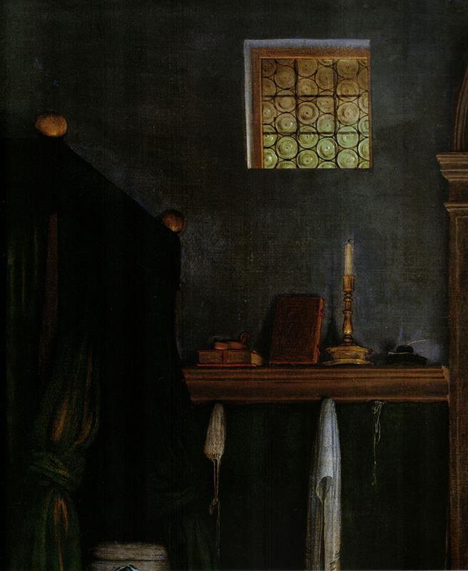Lorenzo Lotto, Annunciazione. Dettaglio - Public Domain via Wikipedia Commons