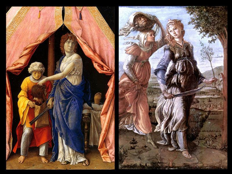 Mantegna e Botticelli, Medea con la testa di Oloferne - Public Domain via Wikimedia Commons.