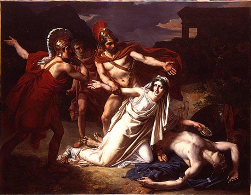Sébastien Norblin, Antigone donnant la sépulture à Polynice - Public Domain via Wikimedia Commons