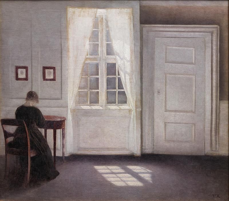 Vilhelm Hammershøi, A Room in the Artist's Home in Strandgade, Copenhagen, 1901 - Public Domain via Wikipedia Commons