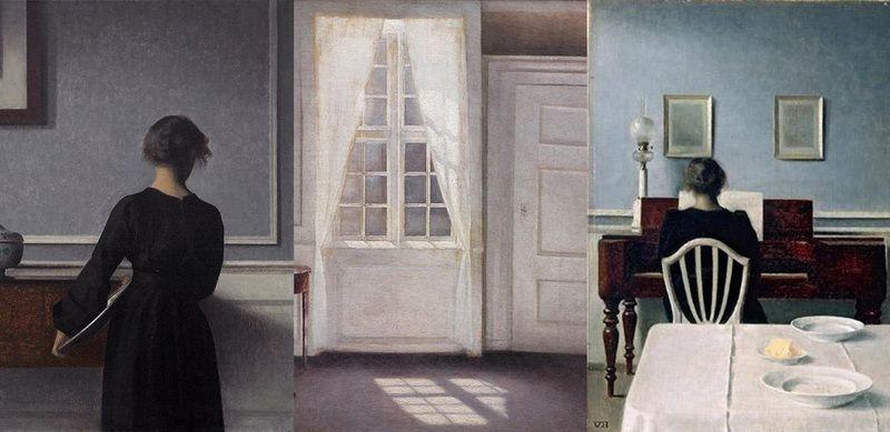Vilhelm hammersh i il mistero della casa silenziosa for Case del seminterrato di luce del giorno