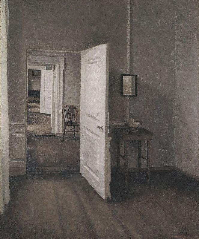 Vilhelm Hammershoi, Die vier Zimmer, 1914, Ordrupgaard, Kopenhagen - Public Domain via Wikipedia Commons