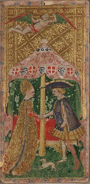 Il Matrimonio (Gli amanti) del mazzo Cary-Yale (public domain, via Wikimedia Commons).