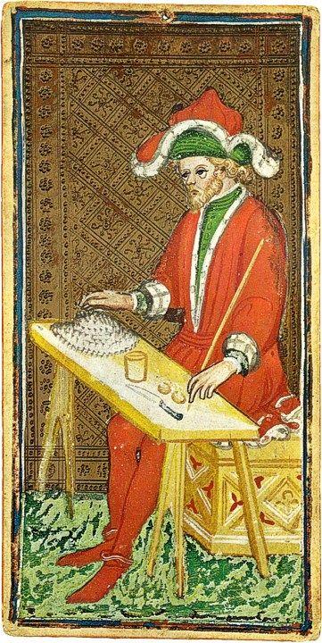 Il Mago del mazzo Pierpont-Morgan (public domain, via Wikimedia Commons).