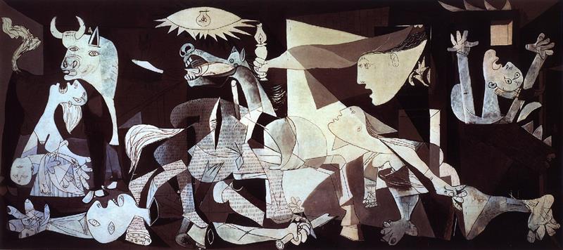 Pablo Picasso, Guernica, 1937, Museo Nacional Centro de Arte Reina Sofía di Madrid - Flickr CC BY-NC 2.0.