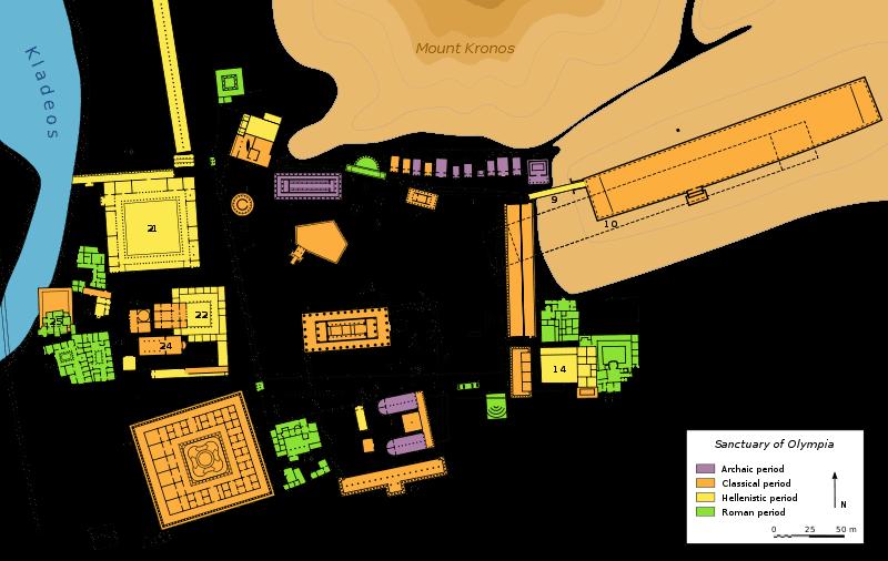 Plan Olympia Sanctuary - by Bibi Saint-Pol [Public domain], attraverso Wikimedia Commons