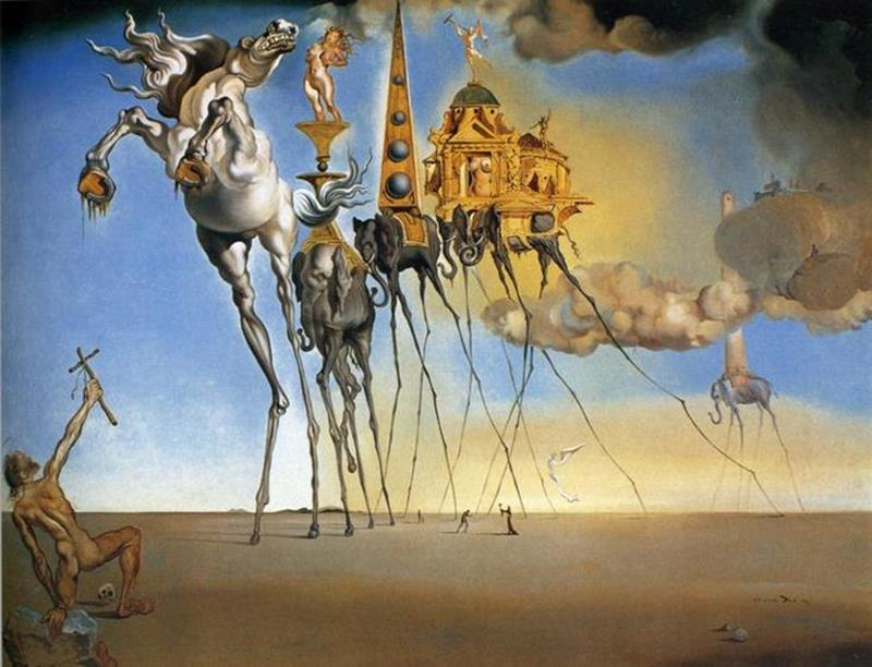 Salvador Dalì, La Tentazione di Sant'Antonio, 1946, Museo reale delle belle arti, Bruxelles - Pinterest