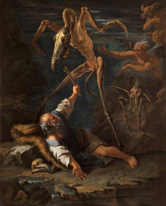 Salvator Rosa, Le tentazioni di sant'Antonio, ca. 1645, Museo di Villa Luca, Pinacoteca Rambaldi, Coldiroli - Sanremo - Pinterest