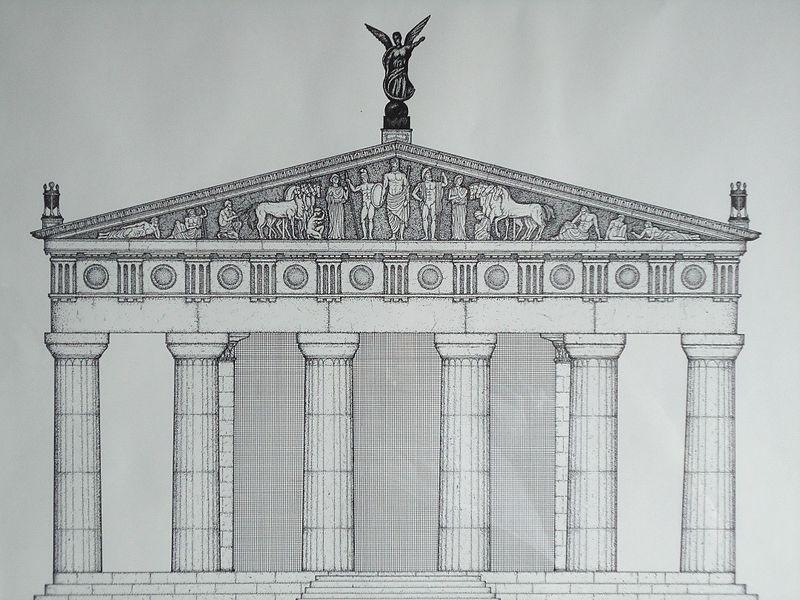 Temple of Zeus - Olympia - Di Mauro Cateb (Opera propria) [CC BY-SA 3.0], attraverso Wikimedia Commons