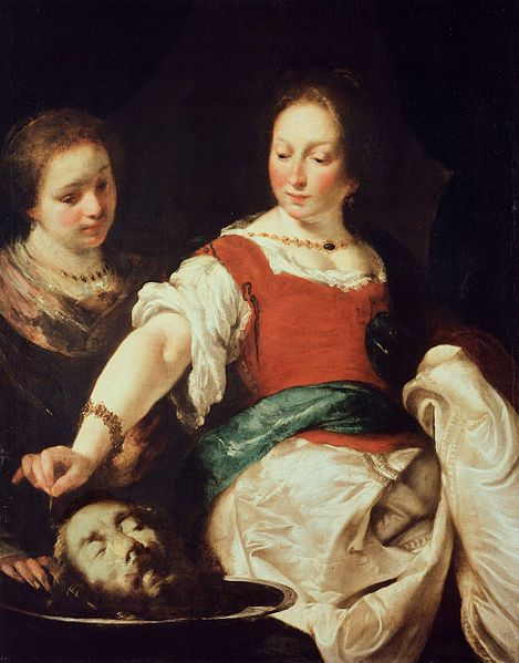 "Donne ""decollatrici"" - Bernardo Strozzi, Salomè, dopo il 1630, Gemäldegalerie, Berlino (public domain, via Wikimedia Commons)."