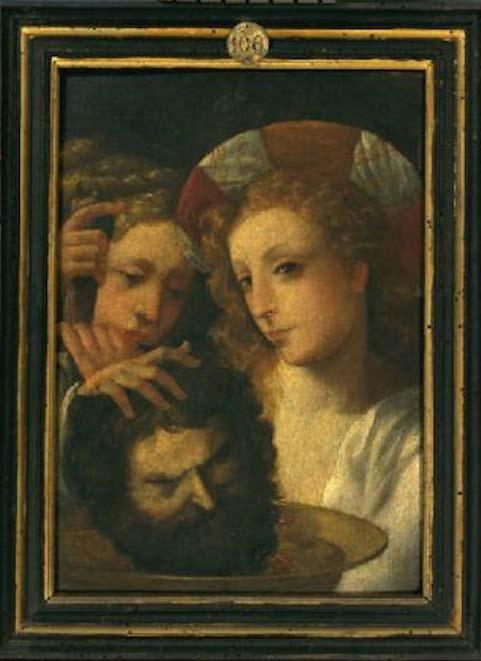 Giuditta e Oloferne, ultimo quarto del XVI secolo, scuola emiliana (public domain, via Wikimedia Commons). Pinacoteca Ambrosiana, sala 5.