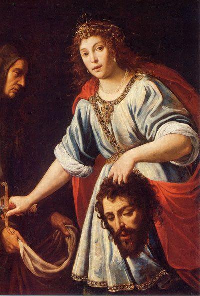 Giuseppe Vermiglio, Giuditta e Oloferne, 1623-1625 circa (public domain, via Wikimedia Commons). Pinacoteca Ambrosiana, sala 15.