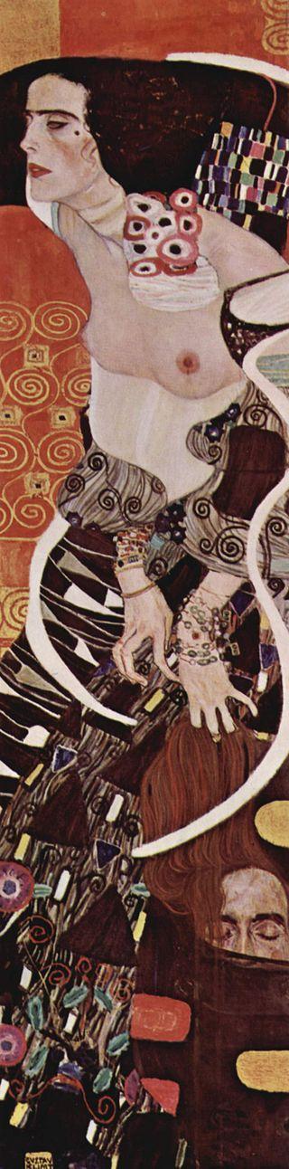 Gustav Klimt, Giuditta II, 1909, Galleria internazionale d'arte moderna, Venezia (public domain, via Wikimedia Commons).