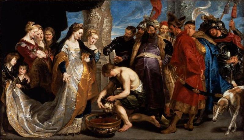 Pieter Paul Rubens, La testa di Ciro portata alla regina Tomiri, 1622-23, Museum of Fine Art, Boston (public domain, via Wikimedia Comons).