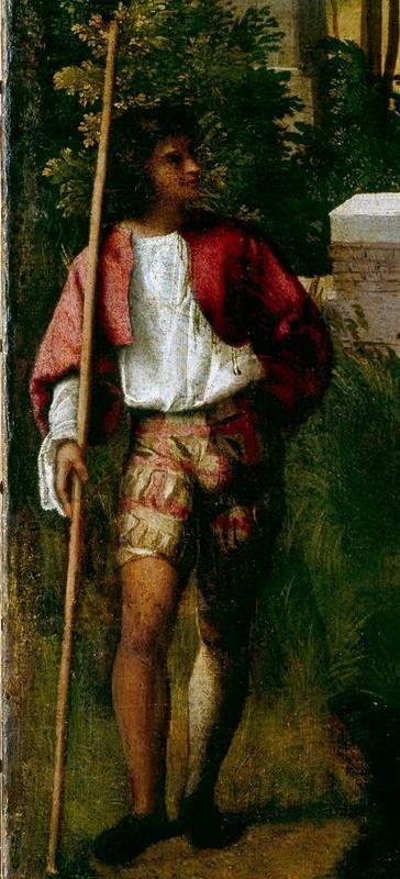 Giorgione, La Tempesta - Dettaglio - Soldato