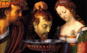 GIUDITTA, SALOMÈ, TOMIRI - Andrea Solario, Salomè con la testa del Battista, 1520-24, Kunsthistorisches, Vienna (public domain, via Wikimedia Comons).