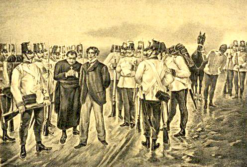 Gaetano Previati, Fucilazione di Amatore Sciesa, 1875 ca. (public domain, via Wikimedia Commons)