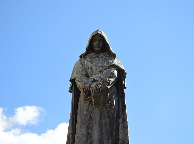 Giordano Bruno in Campo de' Fiori a Roma (public domain, via Wikimedia Commons)