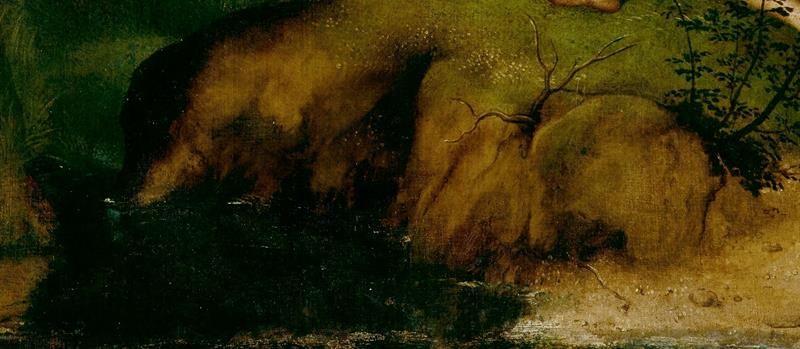 Giorgione, La Tempesta - Dettaglio - Rocce