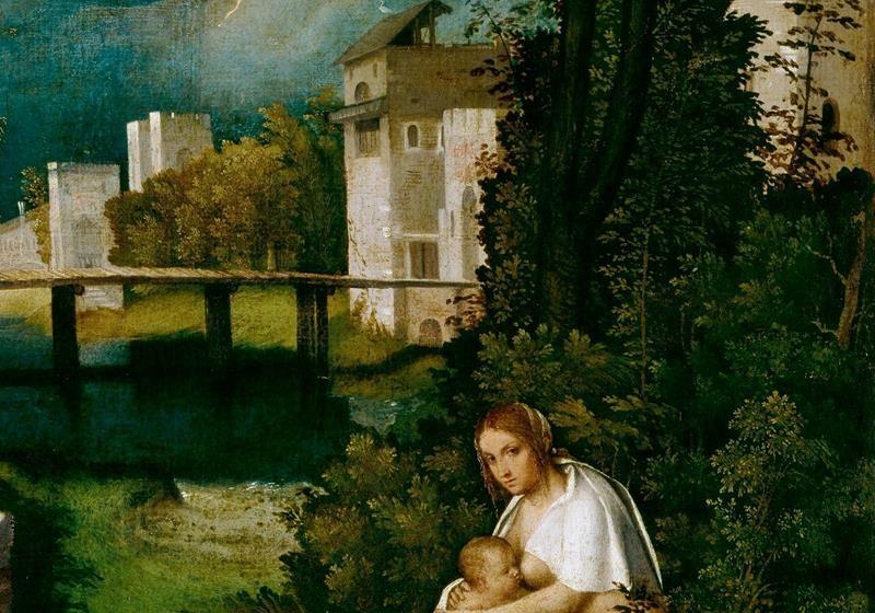 Giorgione, La Tempesta - Dettaglio - Vegetazione