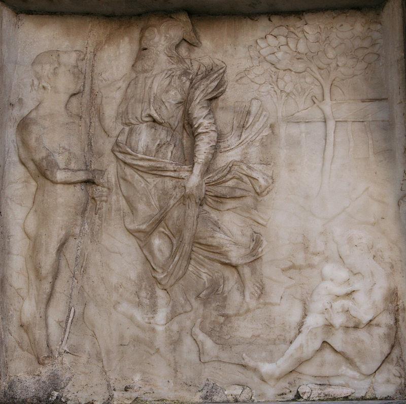 Giovanni Antonio Amadeo, Condanna divina e destino dei progenitori dopo il Peccato originale, Cappella Colleoni, Bergamo - CC BY 2.5 via Wikipedia