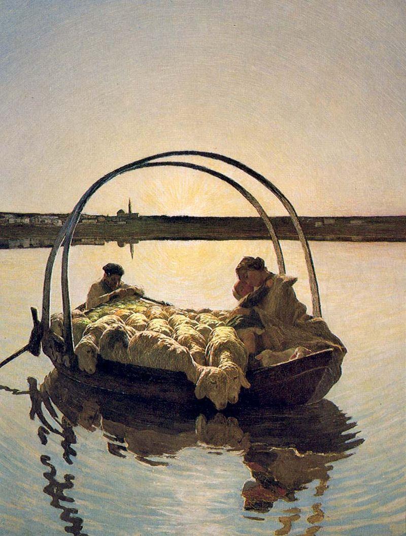 Giovanni Segantini, Ave Maria a trasbordo, 1886 - Public Domain via Wikipedia commons