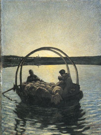 Giovanni Segantini, Ave Maria a trasbordo (I versione) 1882, Zurigo, collezione privata - Pinterest