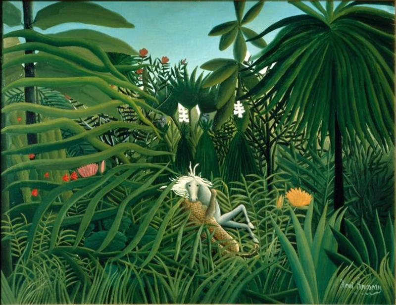 Henri Rousseau, Cavallo attaccato da un giaguaro, 1910 - Public Domain via Wikipedia Commons