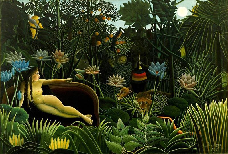Henri Rousseau, Il sogno, 1910 - Public Domain via Wikipedia Commons