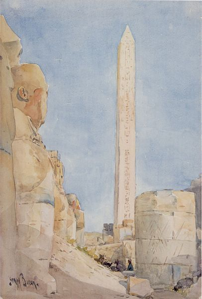 Henry A. Bacon - Obelisk-Karnak in 1900 - Henry A. Bacon [Public domain], via Wikimedia Commons