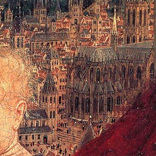 Jan van Eyck, Madonna del cancelliere Rolin - Guglie
