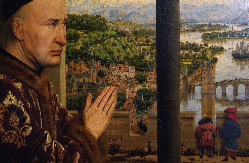 Jan van Eyck, Madonna del cancelliere Rolin - Rolin