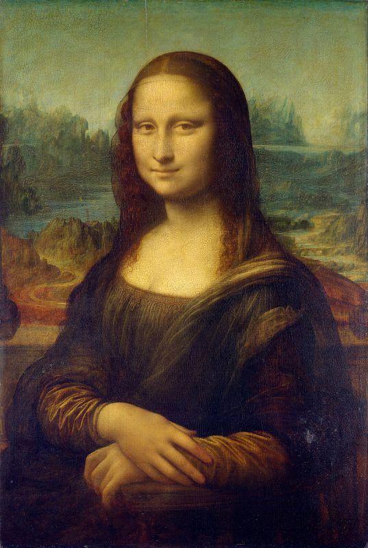 Leonardo da Vinci, La Gioconda, 1503-06 ca., Museo del Louvre, Parigi - Public Domain via Wikipedia Commons