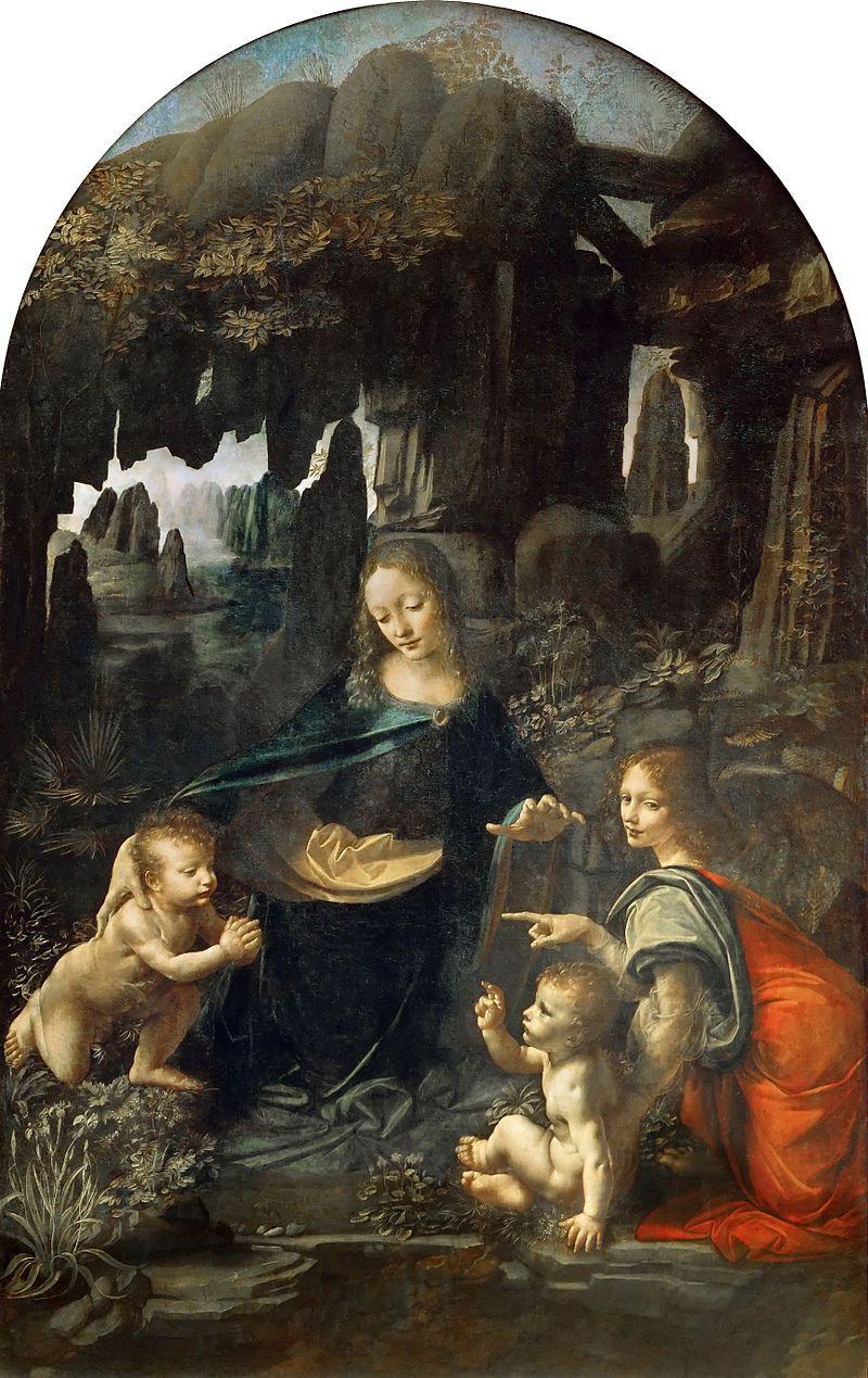 Leonardo da Vinci, Vergine delle rocce, 1483-86, Musée du Louvre, Parigi - Public Domain via Wikipedia CommonsLeonardo da Vinci, Vergine delle rocce, 1483-86, Musée du Louvre, Parigi - Public Domain via Wikipedia Commons