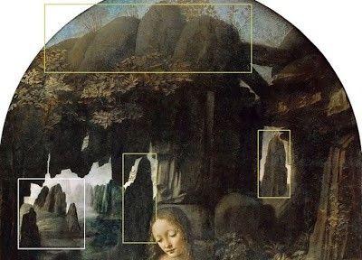 Vergine delle rocce - Particolari evidenziati
