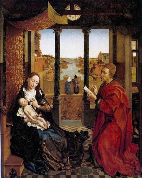 Rogier van der Weyden, San Luca dipinge la Vergine, 1435 ca., Museum of Fine Arts di Boston - Public Domain via Wikipedia Commons