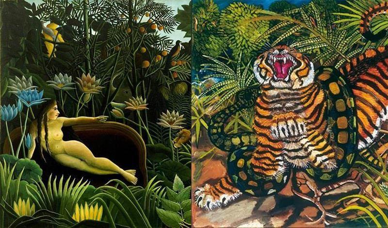 le giungle selvagge di rousseau e ligabue