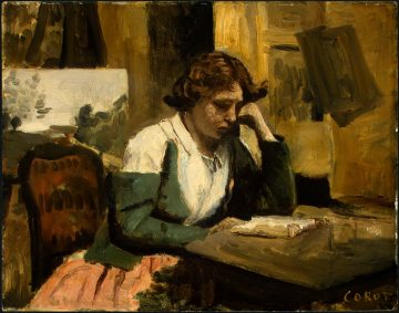 Neera - Jean-Baptiste-Camille Corot, Ragazza che legge, 1868 (public domain, via Wikimedia Commons)