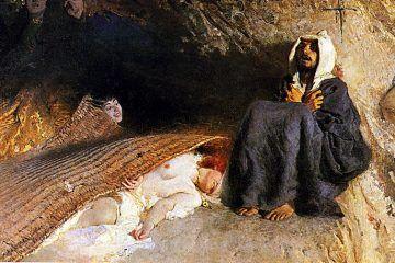 """La madonna """"diabolica"""" della cappella Portinari - Domenico Morelli, Le tentazioni di Sant'Antonio, 1878 (public domain, via Wikimedia Commons)"""