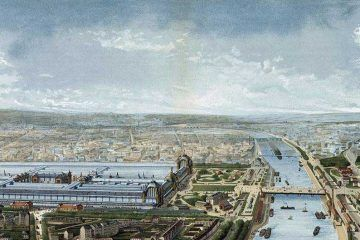 Expo 1878 Parigi – Panorama des Palais [Public domain], via Wikimedia Commons
