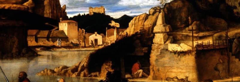 Giovanni Bellini, Allegoria sacra, Particolare sfondo