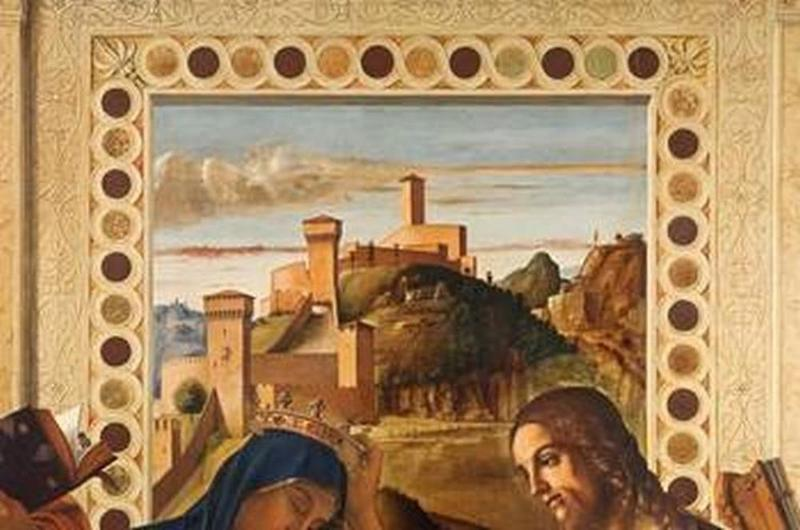 Giovanni Bellini, Incoronazione della Vergine, Particolare