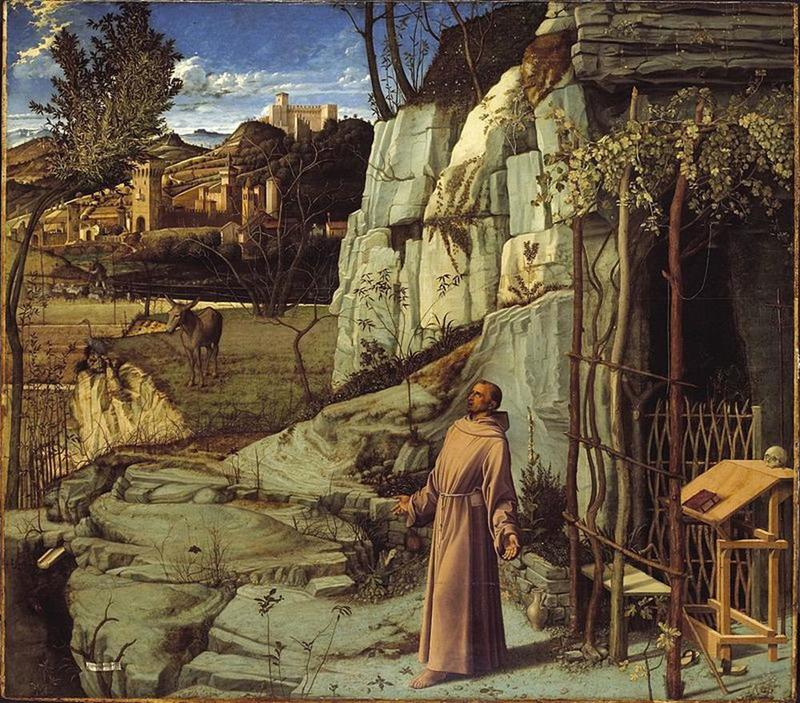 Giovanni Bellini, San Francesco nel deserto, 1480 ca., Frick Collection, New York - Public Domain via Wikipedia Commons