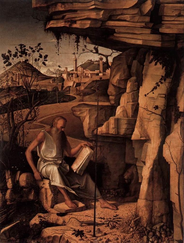 Giovanni Bellini, San Girolamo Contini Bonacossi, 1480, Galleria degli Uffizi, Firenze - Public Domain via Wikipedia Commons