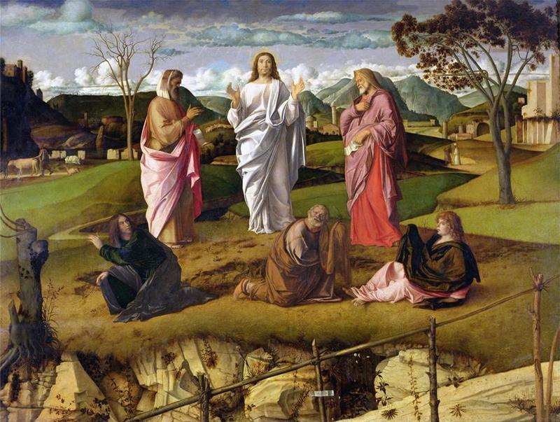 Giovanni Bellini, Trasfigurazione di Cristo, 1478-79, Napoli - Public Domain via Wikipedia Commons