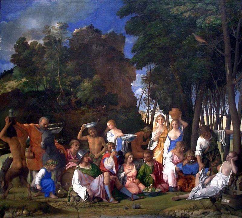 Giovanni Bellini e Tiziano, Festino degli dei, 1514 - Public Domain via Wikipedia Commons